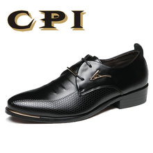 hot deal buy mens dress shoes fashion pointed toe lace up men's business casual shoes brown black leather oxfords shoes big size 38-48 zy-28