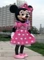 Ventas calientes adult party dress versión minnie traje de la mascota rosada de minnie traje de la mascota envío gratis