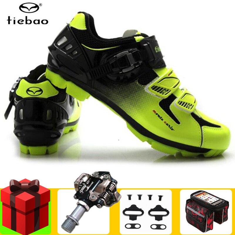 TIEBAO Sapatilha Ciclismo Mtb Cycling Shoes Add SPD Pedal Set 2019 Men Sneakers Zapatillas Deportivas Hombre Mountain Bike Shoes