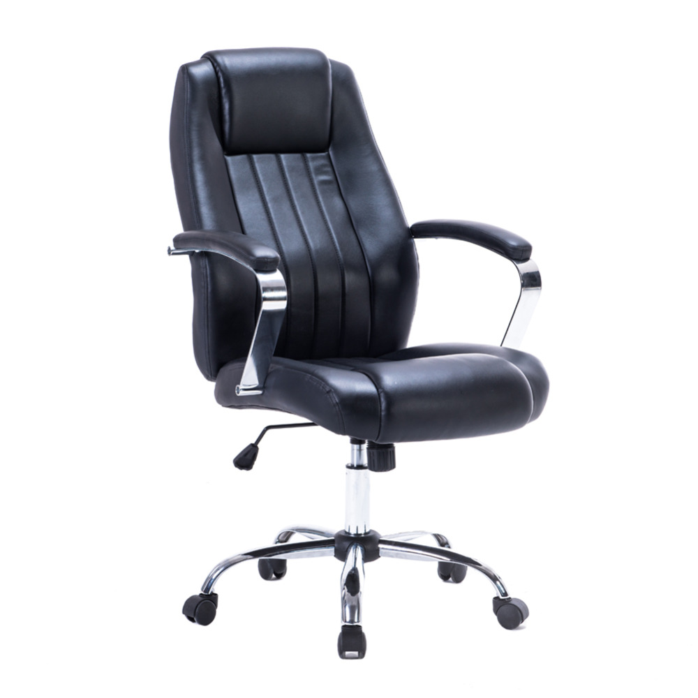 dj wang ergonomic pu leather high back executive office chair thick