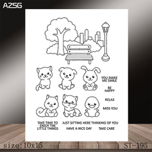 AZSG Lovely little friend Clear Stamps/Stamp/For Scrapooking/Card Making/Silicone Stamps/Decoration  Crafts