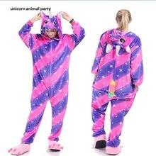 Kigurumi Onesies Cosplay Colorful unicorns pajamas Halloween costumes dance Partymen women hoodies carnival