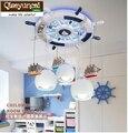 Qiseyuncai Современная Минималистичная креативная детская комната с мультяшным самолетом Светодиодная потолочная лампа для глаз теплое освеще...