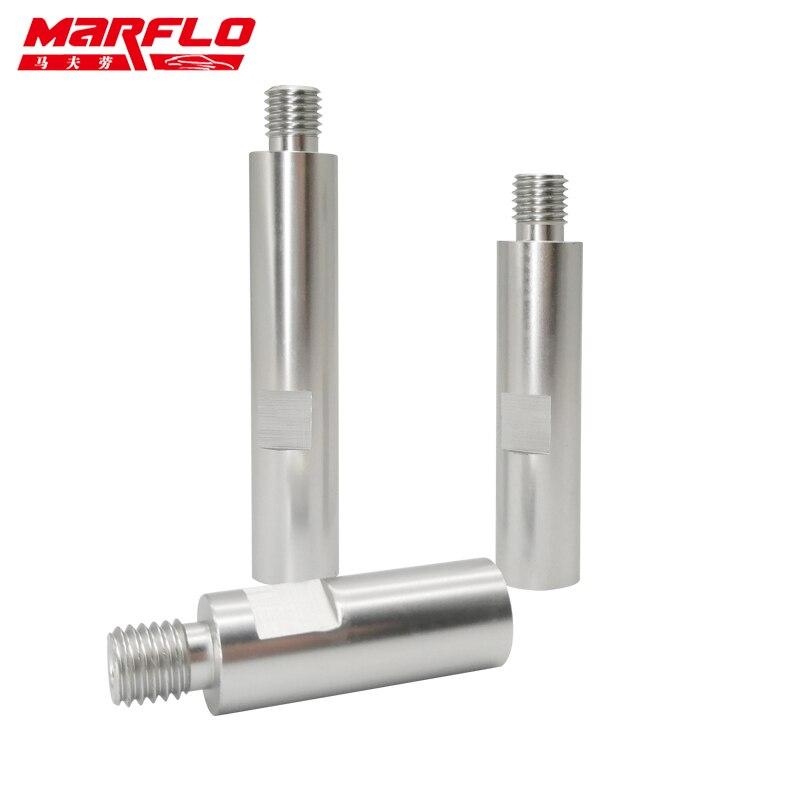 Marflo alu m14 eixo de extensão polidor rotativo para cuidados com o carro polimento acessórios ferramentas detalhamento automático