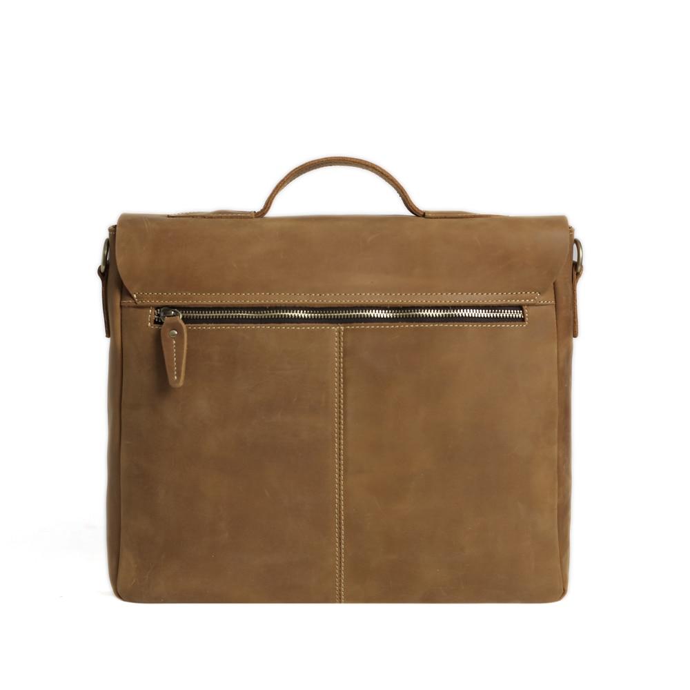 ROCKCOW Laptop supë çanta prej lëkure origjinale, qese crossbody, - Çanta dore - Foto 3