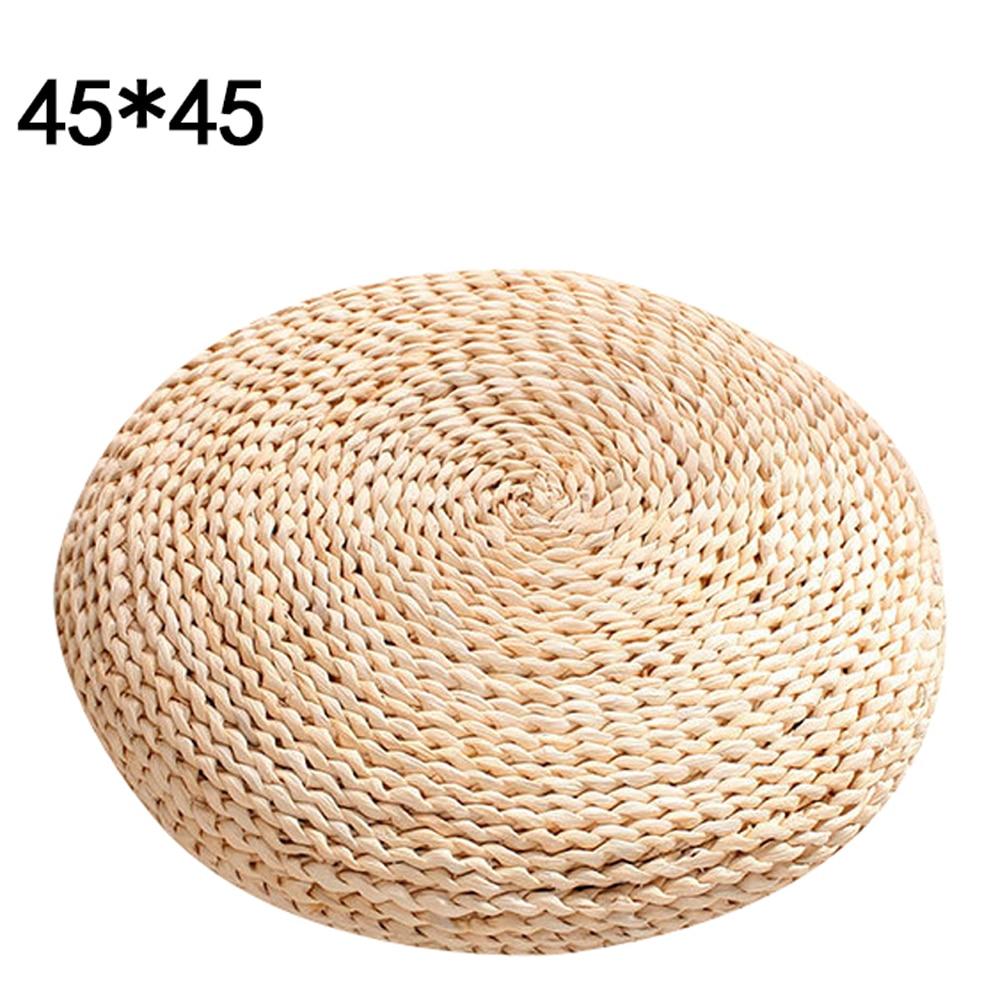 HTB1.Ip9B5CYBuNkHFCcq6AHtVXa8 Tatami Futon Meditation Cushion Thickening Yoga Circle Corn Husk Straw Braid Mat Japanese Style Cushion with Silk Wadding