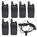 6Pcs/lot Zastone ZT-X6 UHF 400-470 MHz Black Walkie Talkie Amateur Radio Transceiver long Range Two Way Radios Portable Radio