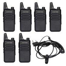 6Pcs/lot Zastone ZT-X6 UHF 400-470 MHz Black Walkie Talkie Amateur Radio Transceiver long Range Two Way Radios Portable Radio