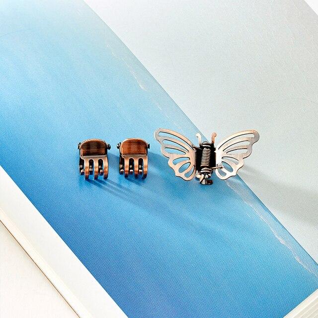 Купить 3 шт заколки крабы для волос в виде бабочек