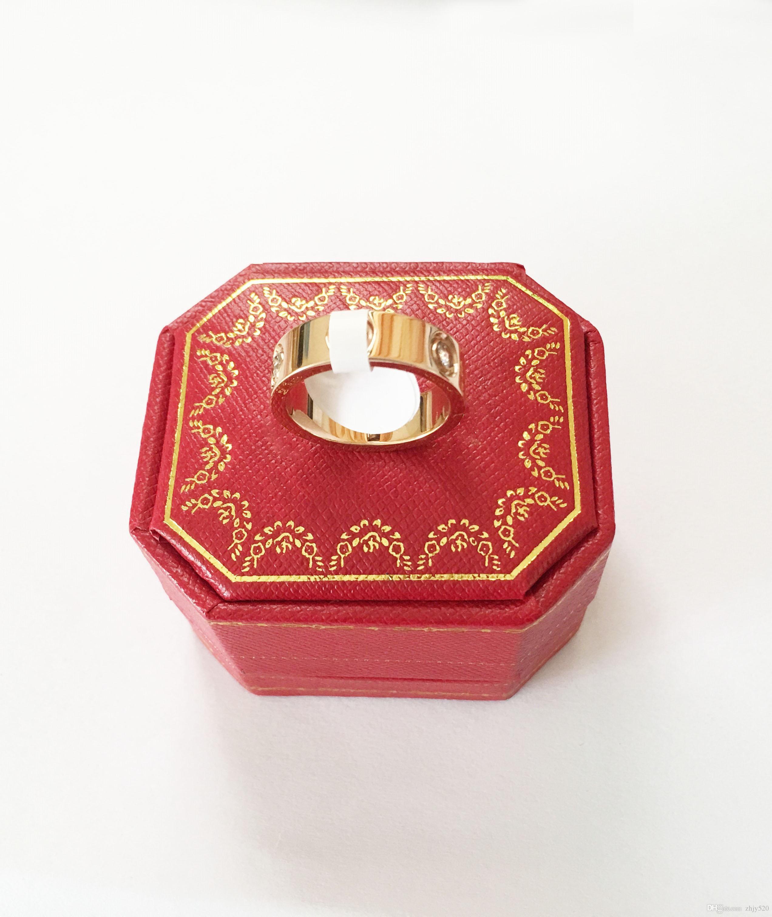 Engagement-Ring Screw-Rings Wedding-Jewelry Titanium Steel Carter Women Love Simple Brand