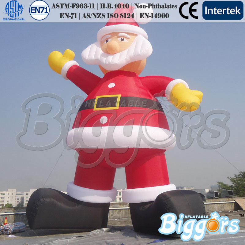 Huge Santa Claus Large Size Inflatable Toys For Advertising Display santa claus printed throw pillow case