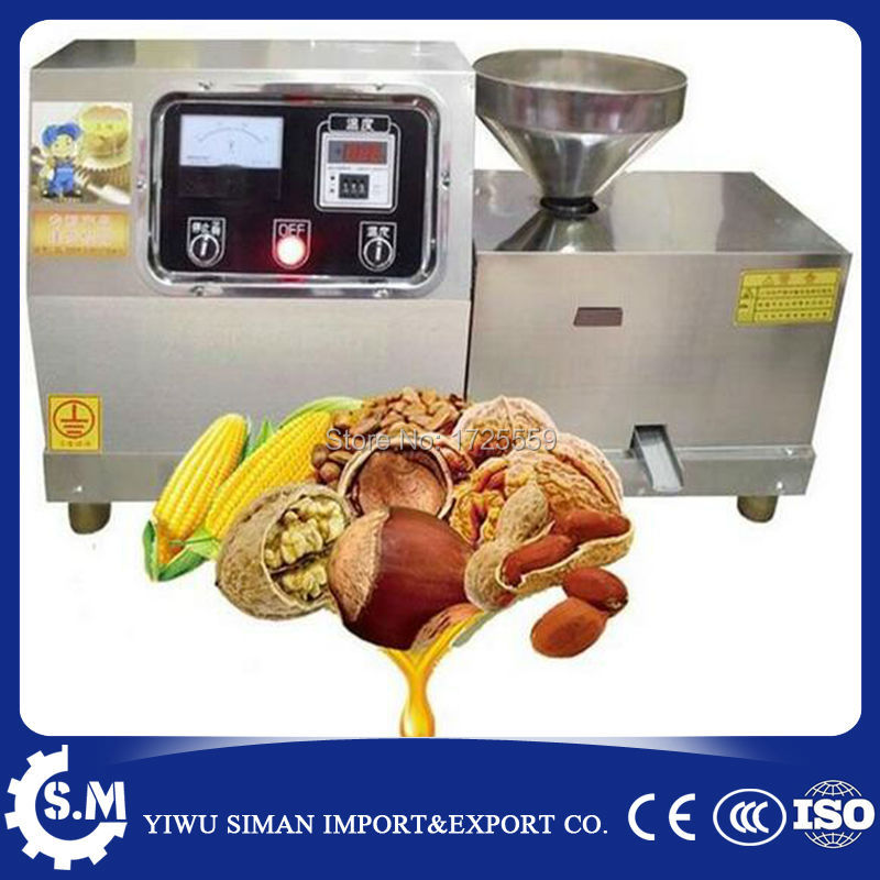 Presseur de presse à huile comestible domestique taux d'extraction d'huile élevé électrique chaud et froid vis écrou presseur d'huile de noix de coco