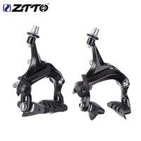 ZTTO 1 Conjunto de Freio Da Bicicleta de Corrida De bicicleta de Estrada Duplo Pivot freio de Alumínio Puxar Lado Caliper Dianteiro & Traseiro com freio almofadas