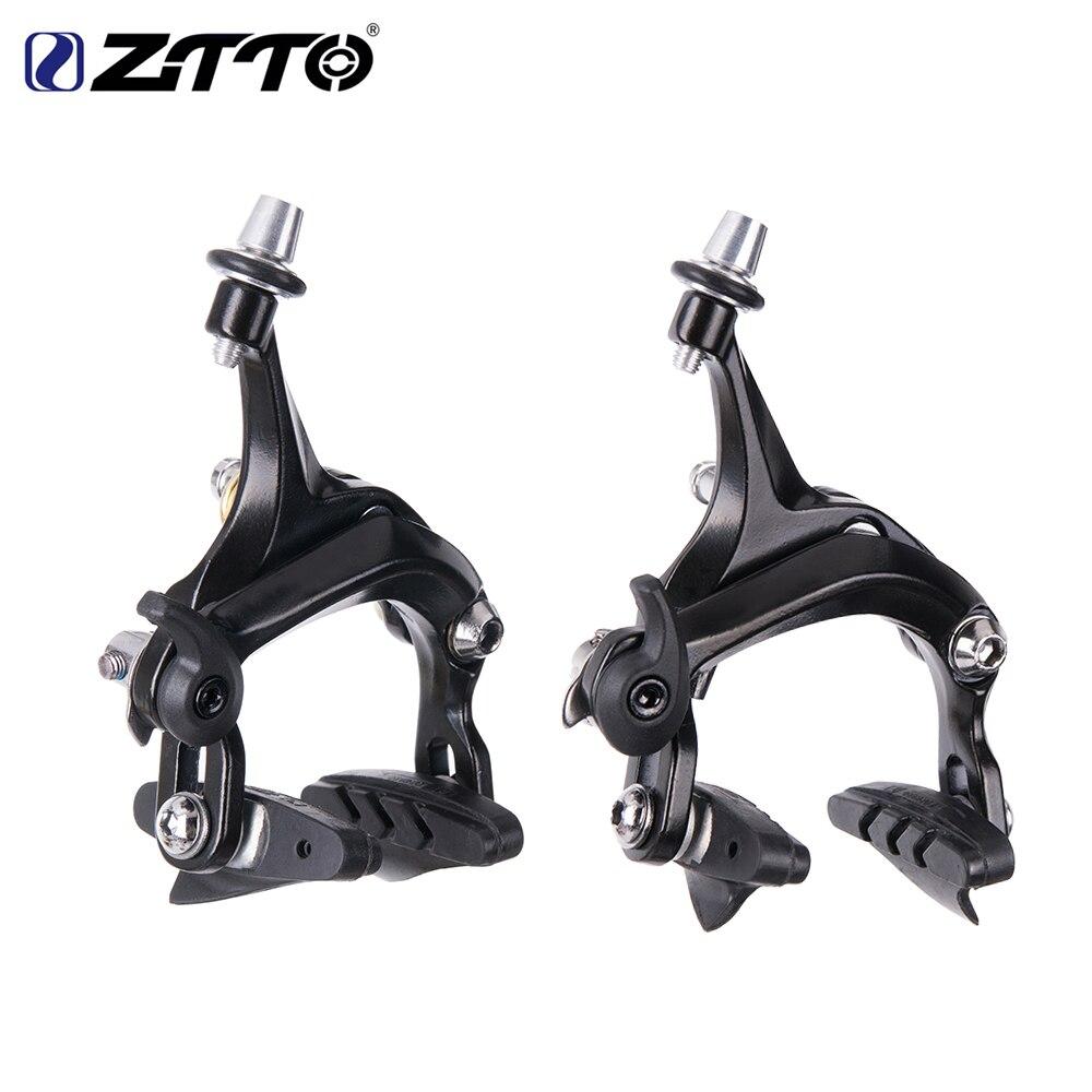 ZTTO 1 Set Bicycle Brake Racing Road bike Dual Pivot brake Aluminum Side Pull Caliper Front & Rear with brake pads