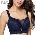 FallSweet Unlined Wire Free Women Bra Full Coverage Push Up Brassiere 36 38 40 42 44 46 Big Size Women Underwear