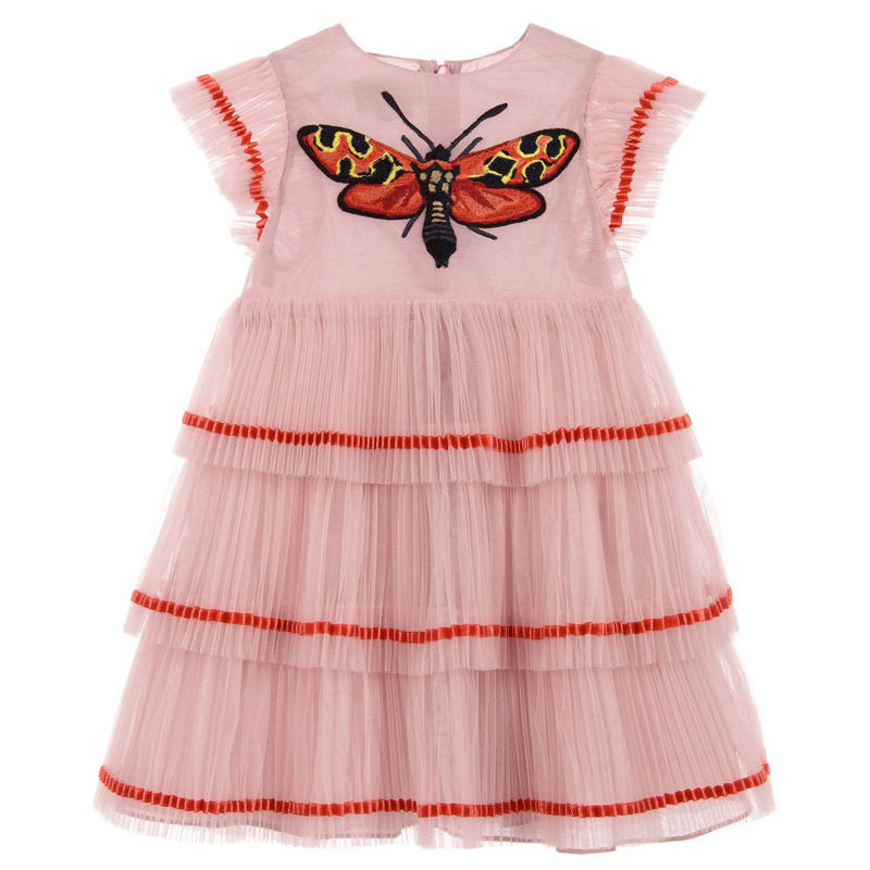 a7e273356 2018 KIDS DRESSES GIRLS FASHION DRESSES Girls butterfly pattern priceness  dresses for girls party dresses ~ Super Deal June 2019