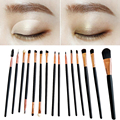 Profesional 15PCS Make Up Brush Set Special for Eyeshadow Eyebrow Wood Handle Facial Cosmetic Makeup Brushes #BSEL
