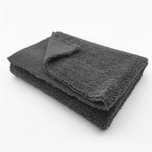 """Image 4 - 50 pacote 450gsm edgeless nenhuma toalha de microfibra do risco 16 """"x16"""" superior carro polimento, lustrando detalhando toalha"""