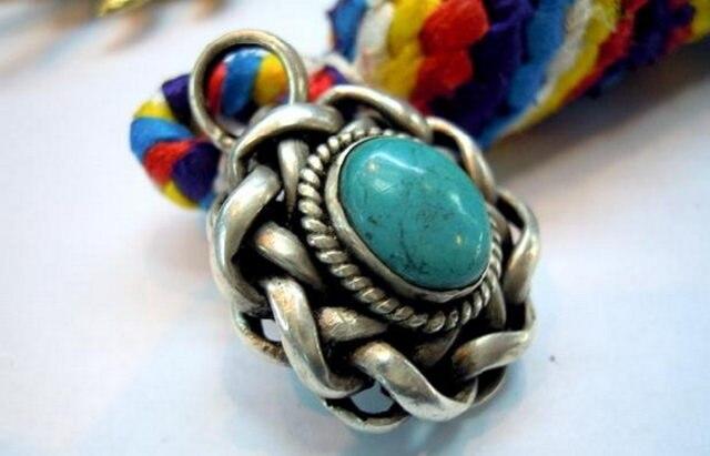 TBP141 тибетское серебряное инкрустированное каменное Птичье гнездо винтажные подвески