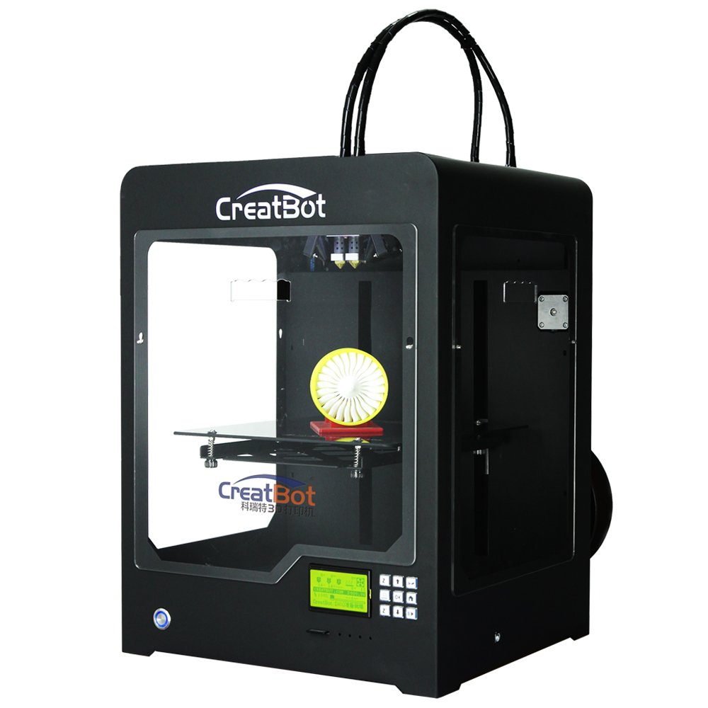 300*250*300 mm Dual Extruder CreatBot 3D Printer DX02  Metal Frame FDM Large Printer  Best Selling  DIY  2KG PLA ABS for free shipping from russian i3 flsun 3d printer autolevel 3d printer large size dual extruder diy printer 2 rolls filament for gift