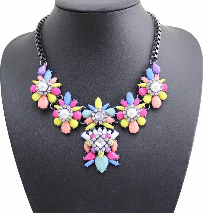 2016 New Luxury Brand Rhinestone Flower Choker Nec...