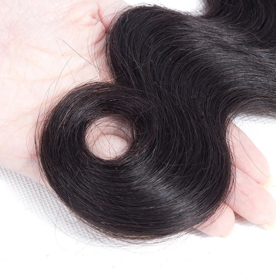 038  Gabrielle Hair Brazilian Physique Wave Hair Three Bundles with Closure Pure Coloration 100% Non-remy Human Hair Weave Bundles With Closure HTB1