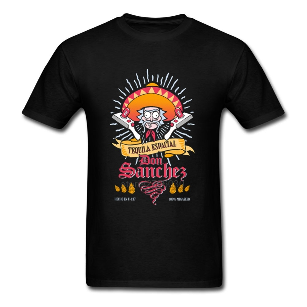 Custom Work Shirt Rick And Morty Tequila Don Sanchez Mens T Shirts 2017 Male kyrgyzstan balr T-Shirt Design