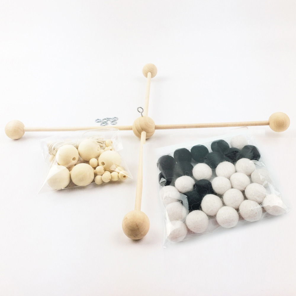 modern baby mobile reviews  online shopping modern baby mobile  - pinjeas blackwhite wool felt balls baby mobile diy bag shower gifts(set)pomom ball modern nursery wool kid's room decor