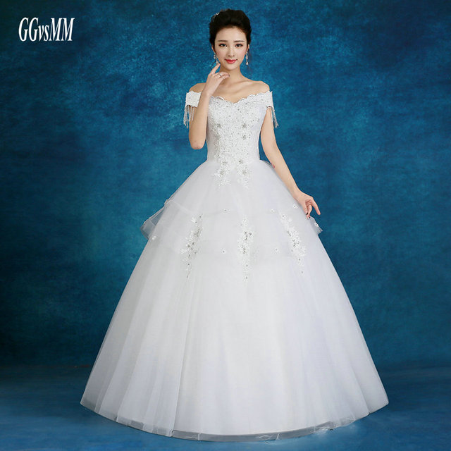 High Quality Plus Size Wedding Dress Long Bride Dresses Ivory 2018 ...