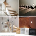 10pcs/lot Indoor PIR Motion Sensor Led Stair Light Infrared Human Body Induction Lamp Recessed Steps Ladder Wall Lamps