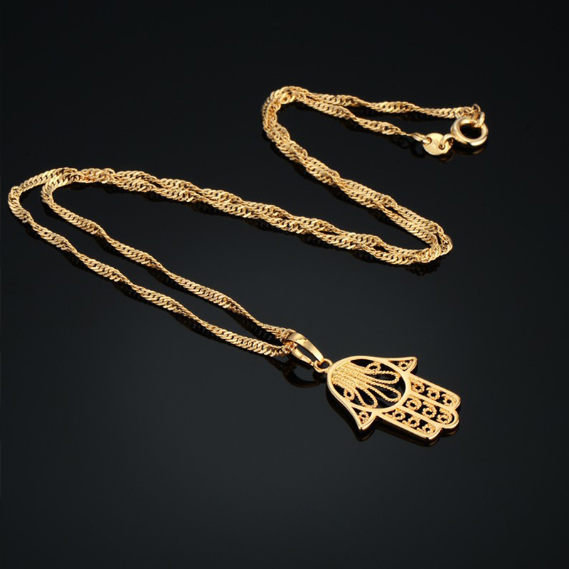 Hamsa Hand Necklace For Women Collares Classic Arabic Necklace - Fashion Jewelry - Photo 5