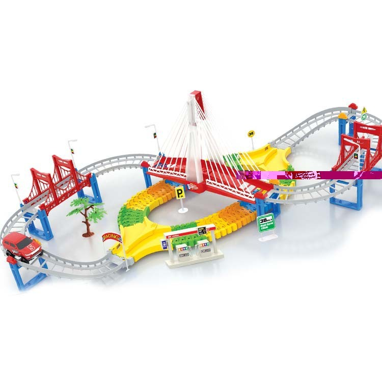 Hot Multilayer track electric rail car kids toys boys gifts Thomas rail train childrens toys for Christmas gift on stock