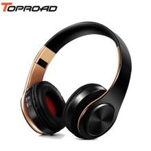 4139fb923f7 Toproad auriculares inalámbricos Bluetooth auriculares estéreo plegable  auriculares de música con micrófono soporte TF tarjeta FM