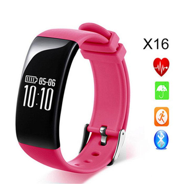 X16 Bluetooth Smart Band Cardiaco Heart Rate Monitor pulsometer watch inteligente pulseira bracelet For Android iOS Smartphone