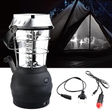 Multifunction Super Bright Hand Crank Solar 36 LED Lamp Outdoor Rechargeable Camping Light 3xAAA Batteries