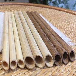 UPORS 50Pcs Natural Bamboo Straw 20cm Eco Friendly Organic Reusable Straws Bamboo Drinking Straws for Bar Party
