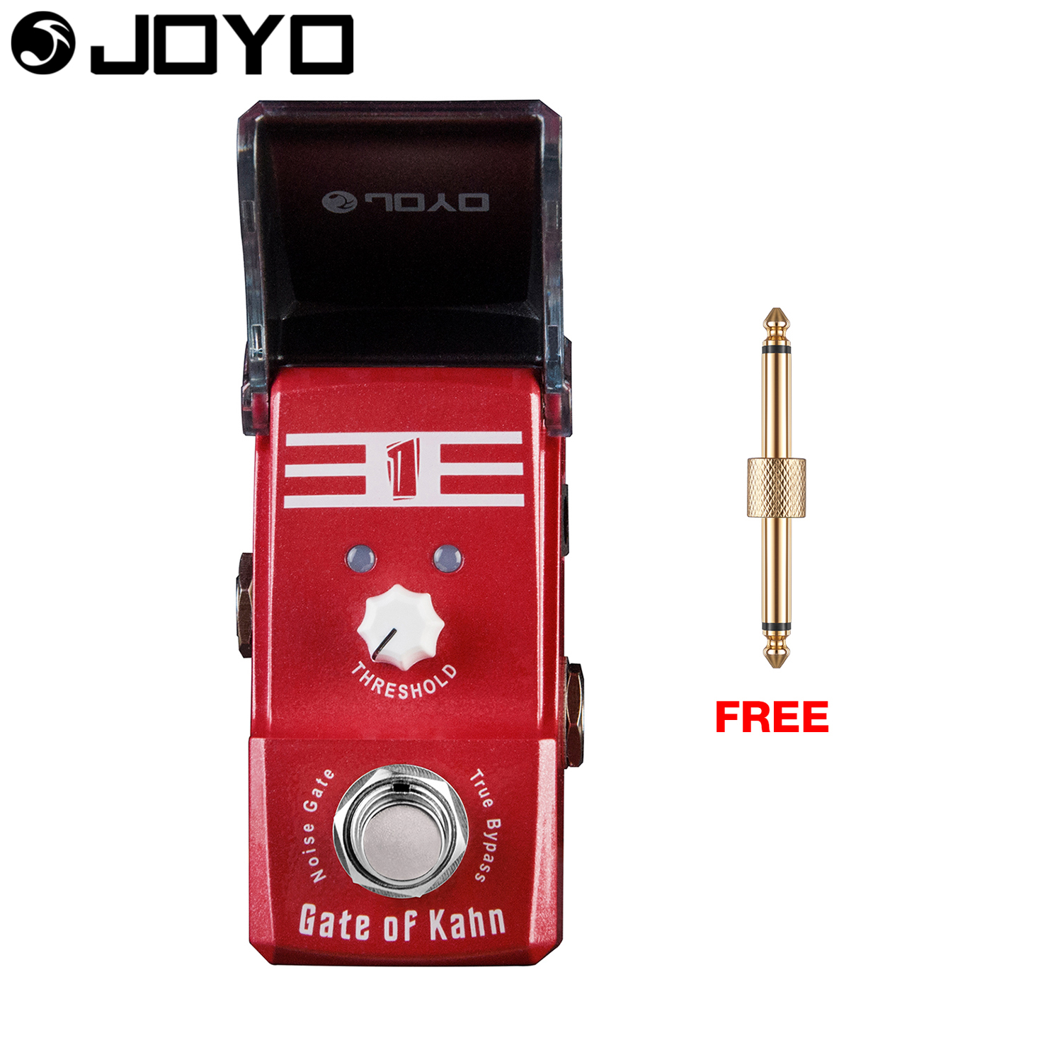 Joyo Gate of Kahn Noise Gate Guitar Effect Pedal Threshold Controls True Bypass JF-324 with Free Gift Connector aroma adr 3 dumbler amp simulator guitar effect pedal mini single pedals with true bypass aluminium alloy guitar accessories