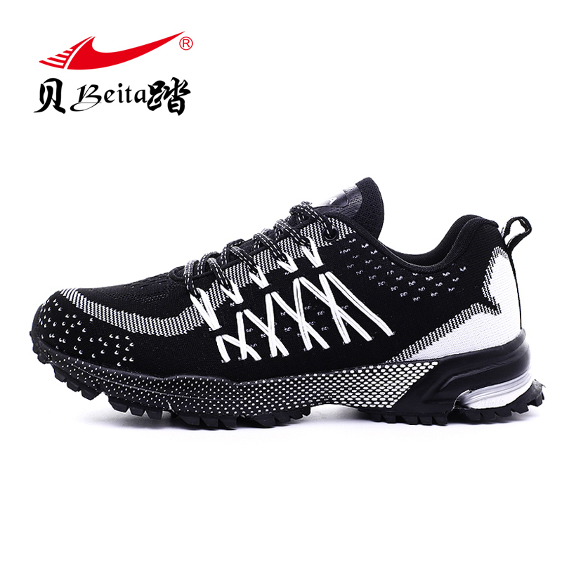 Beita Mens Mesh Running Male Breathable Outdoor Sports Shoes anti-skid wear resistant Athletic Training lightweight Sneakers
