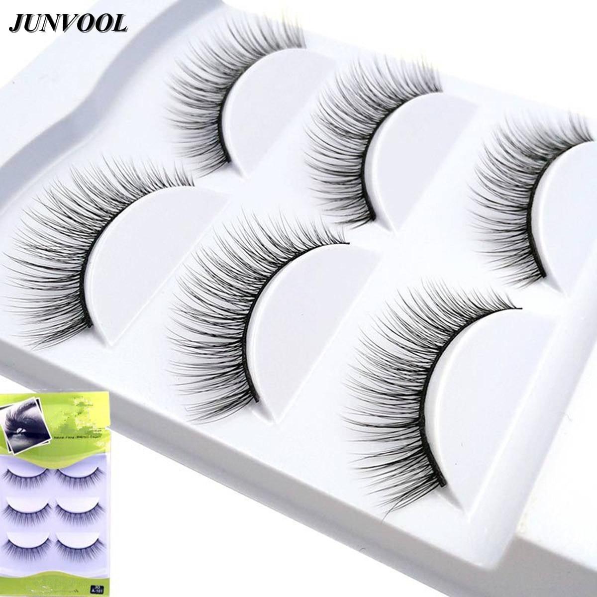 3D Mink Lashes 3 pár False szempilla Természetes smink Fake Eye - Smink