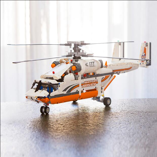 new lepin 20002 technology series mechanical group high load helicopter blocks Compatible With 42052 Boy assembling toys new lp2k series contactor lp2k06015 lp2k06015md lp2 k06015md 220v dc