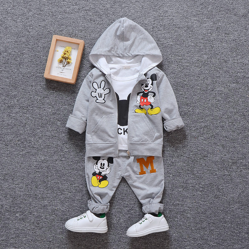 Baby Boys Girls Clothing Set 2019 Miki Mouse Cotton Children Kids Tracksuit Casual Toddler Girl Clothes Suit 1 2 3 4 years