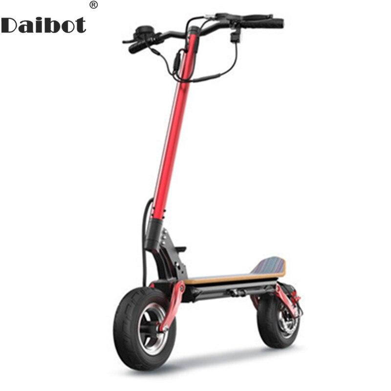 Daibot Scooter électrique hors route 10 pouces Scooters électriques moteur sans brosse 500 W 48 V pliant Scooter électrique pour adultes