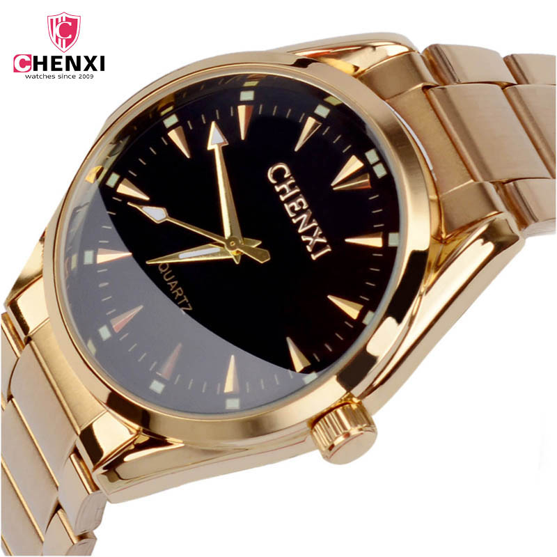 CHENXI 2017 3COLORS Watch Male Stainless Steel Golden men's Wristwatches for Man Top Brand Luxury Quartz Watches Gift Clock 48 все цены