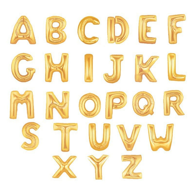 1 piece 16 inch gold foil letter balloons hot alphabet a z for new year birthday party wedding decoration in ballons accessories from home garden on