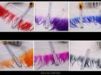 Оптовая продажа с фабрики! Оптовая продажа 100 ярдов 4-6 дюймов/10-15 см-Разноцветные перья страуса ленты, страусиное перо юбка костюм