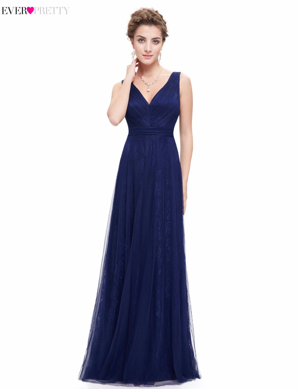Clearance sale sexy evening dresses 2017 ever pretty for Navy evening dresses for weddings