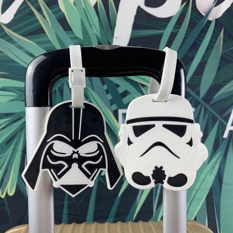 Cartoon Star Wars Luggage Tags Silica Gel Suitcase Kawaii Accessories ID Addres Holder Portable Travel Baggage Boarding Cartoon