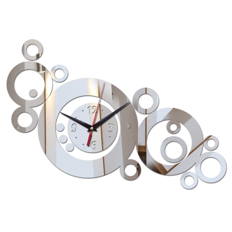 direct selling wall clock Europe acrylic mirror home decoration Quartz wall clocks still life living room diy wall stickers