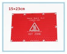 1 шт. Очаг Пластина Makerbot 3d Принтер Комплект Reprap Мендель Prusa i3 3d-принтер 12 В/24 В Очаг Тепла Пластинчатый Кровать PCB 150*230