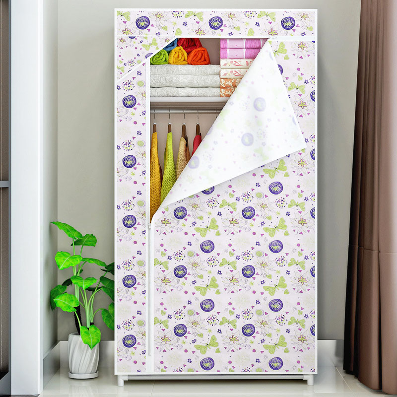 Dormitory single wardrobe Non-woven Fabric Steel frame reinforcement Standing clothe Storage Organizer cabinet bedroom furniture fashion home furniture bedroom non woven fabric family wardrobe standing storage organizer closet cabinet high foot shelf
